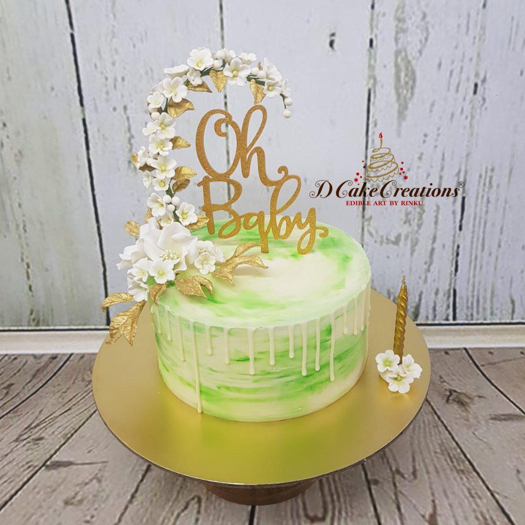 Floral Baby Shower Cake