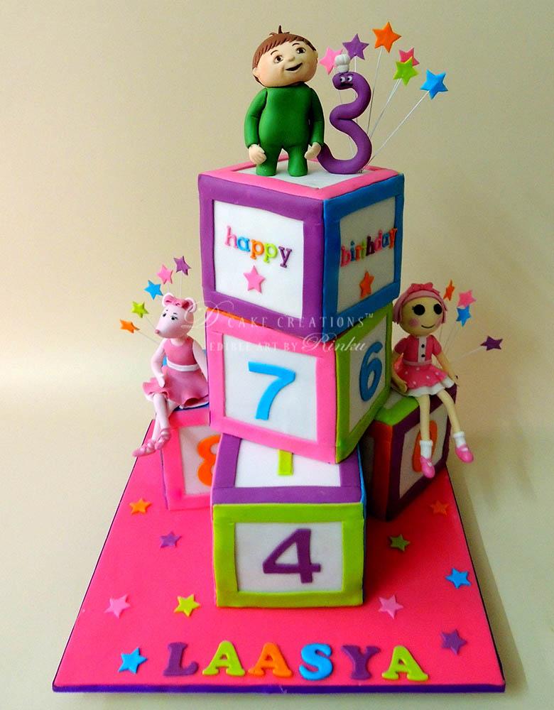 Number Blocks Theme Cake