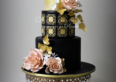 Black & Gold Cake