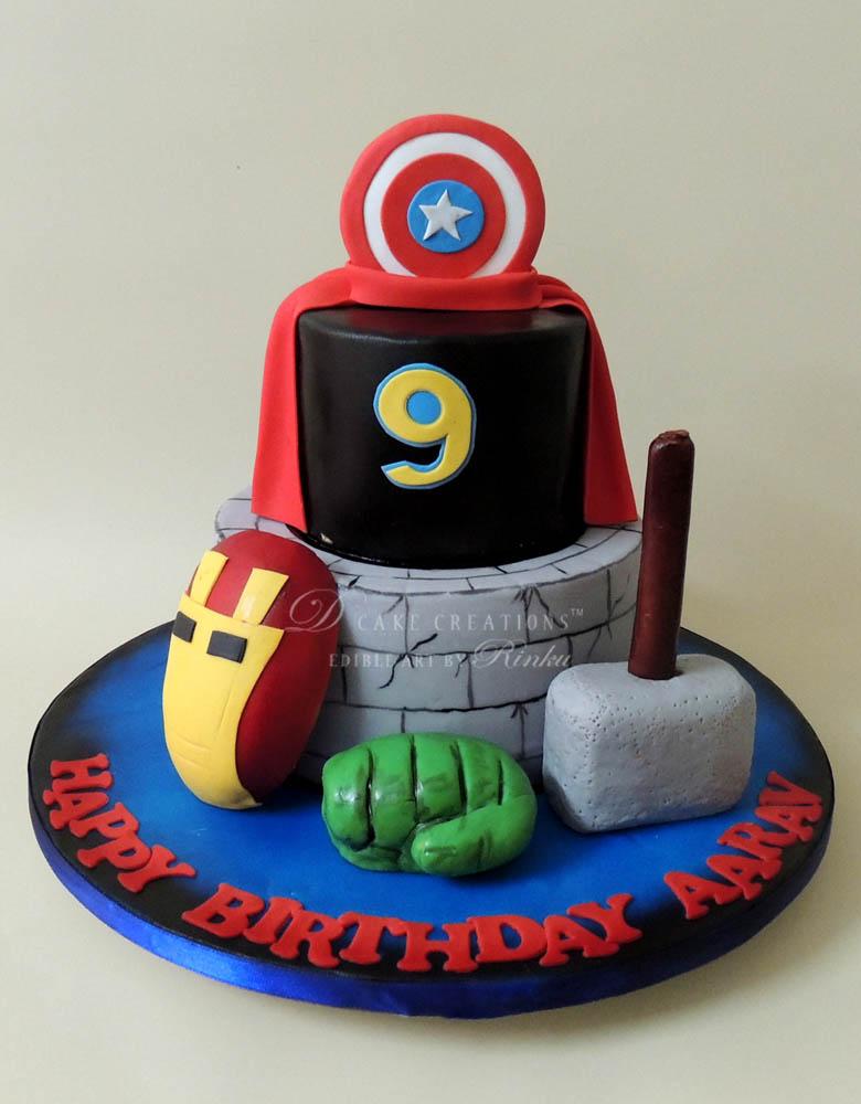 Avenger Birthday Cake D Cake Creations