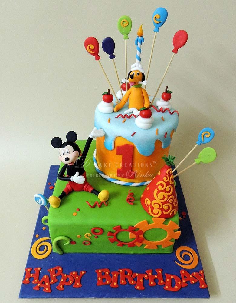 Mickey & Friends Theme Birthday Cake