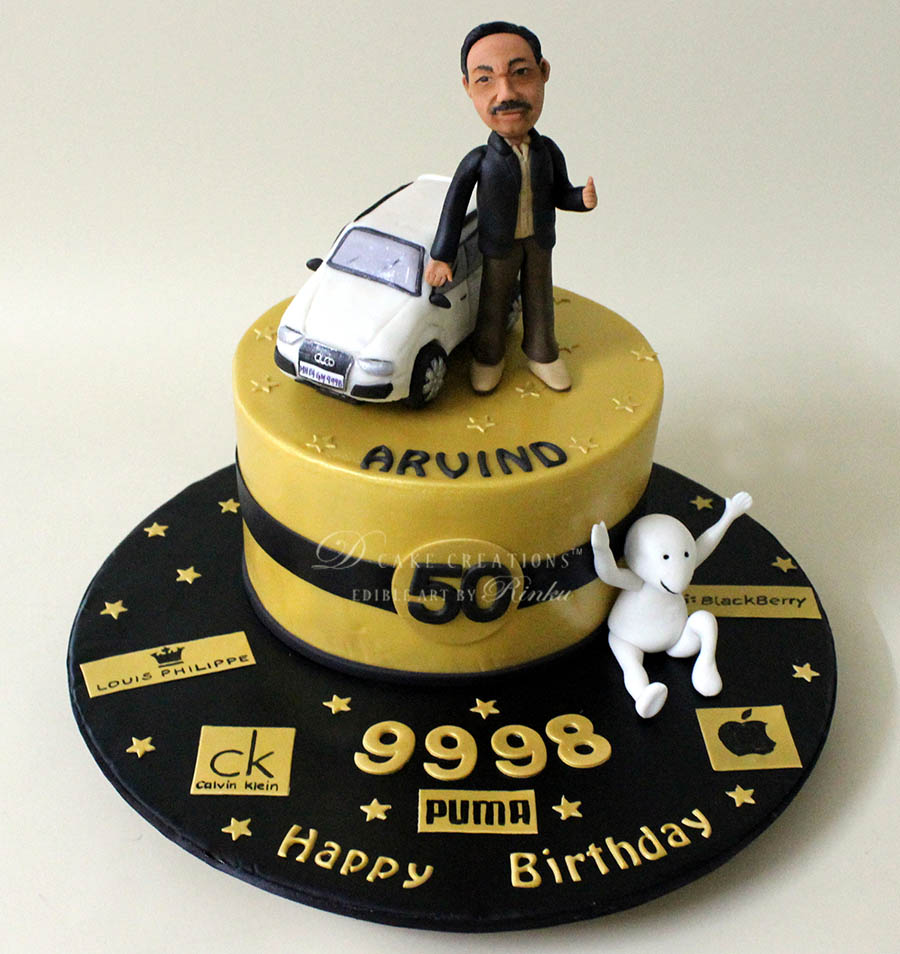 50th Personalised Birthday Cake