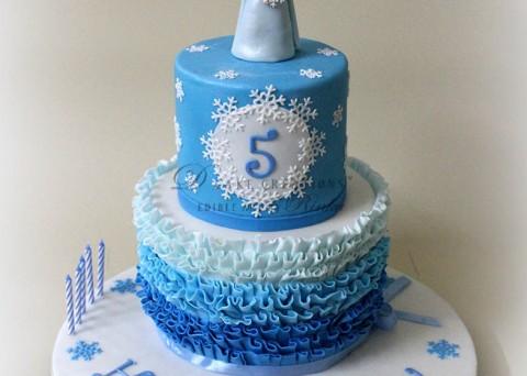 The Frozen Princess Elsa's Cake