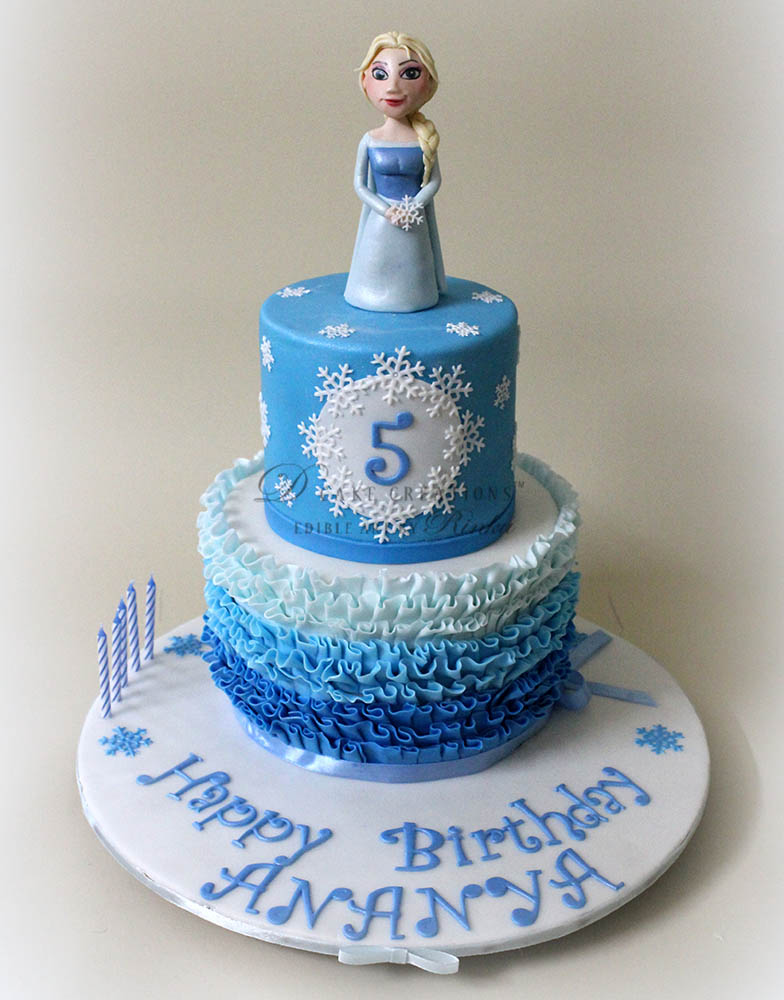 The Frozen Princess Elsa's Cake