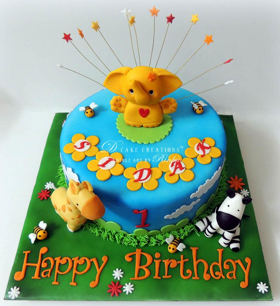 Animal Theme Small Cakes