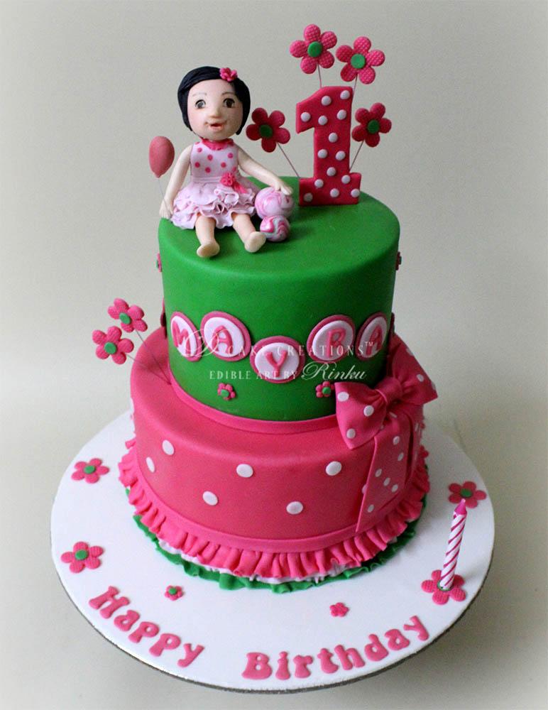 Pink & Mint Green Cake