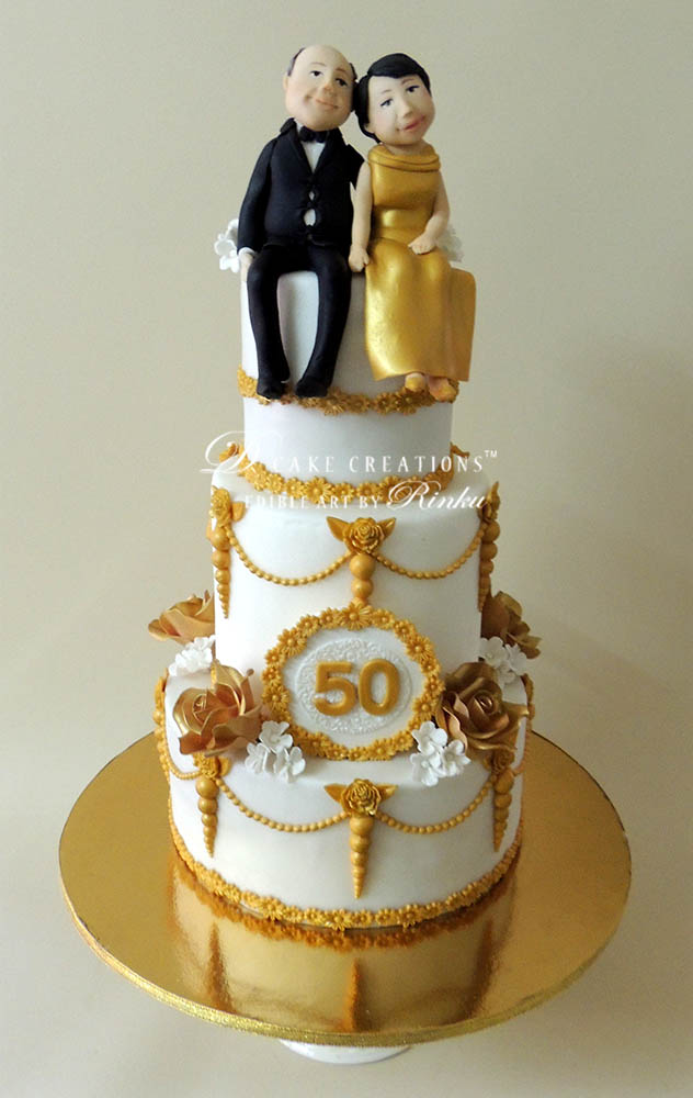 Vintage Anniversary Cake