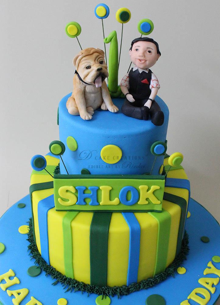 Bulldog Topper Cake