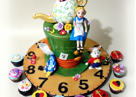 Mad Hatter Tea Party Cake