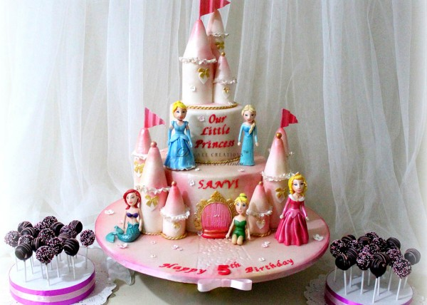 Princesses Pink Castle Cake