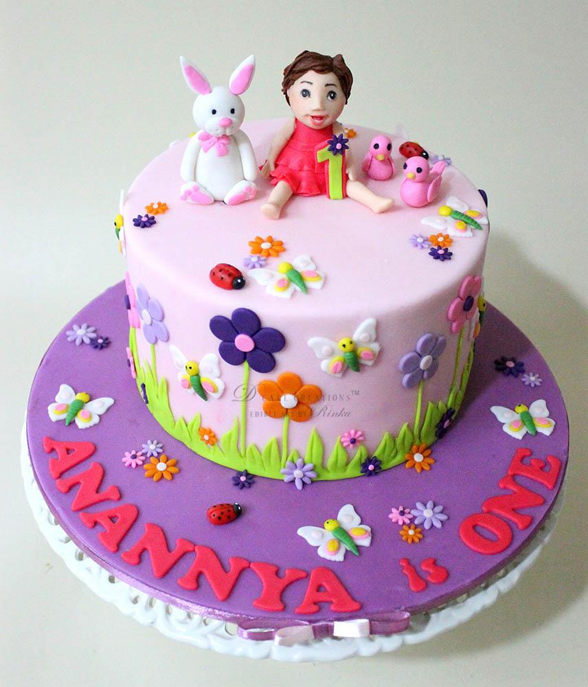 Pink Garden Cake