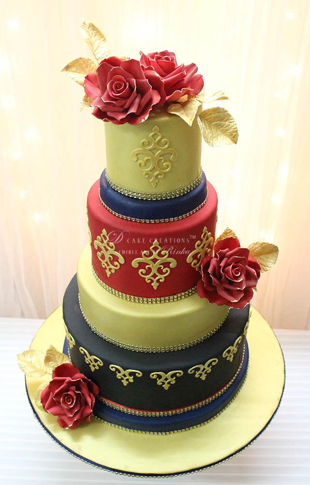 Elegant & Colorful Wedding Cake
