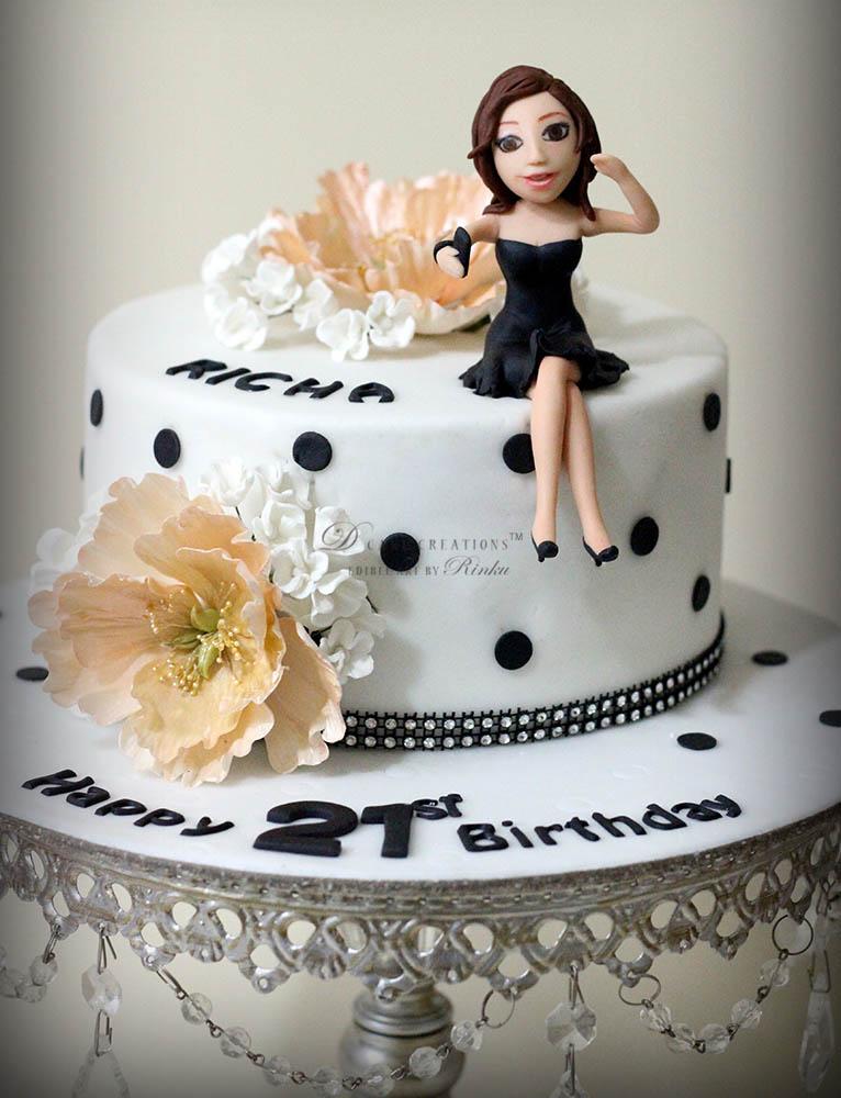 Black & White Selfie Cake