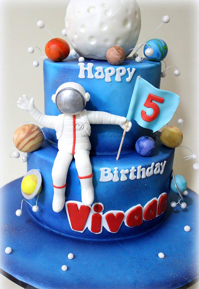 Solar System Theme Cake