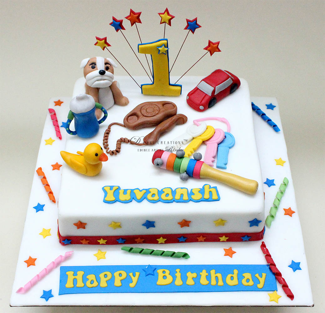 Toy Cake for First Birthday