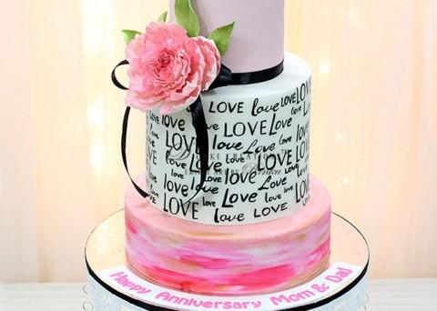 Celebrating Love Anniversary Cake