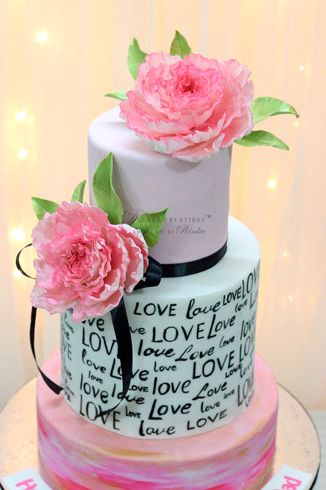 Celebrating Love Anniversary Cake