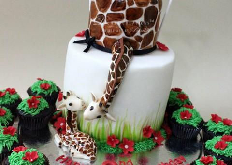 Mom & Baby Giraffe Cake