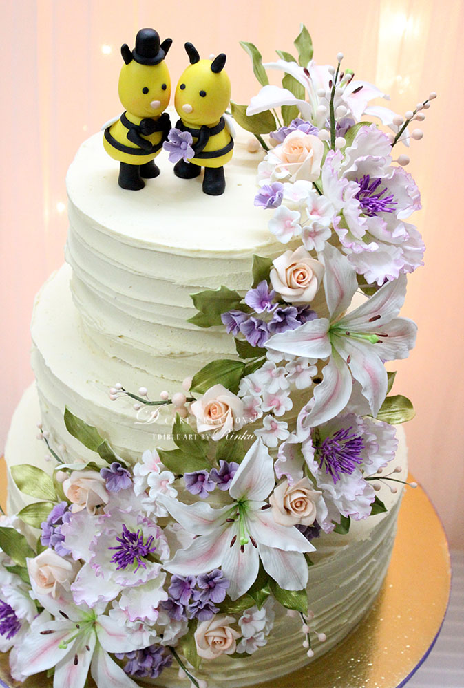 Mr & Ms Bee Engagement Cake