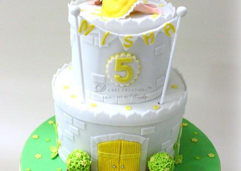 Princess Belle's White Castle Cake