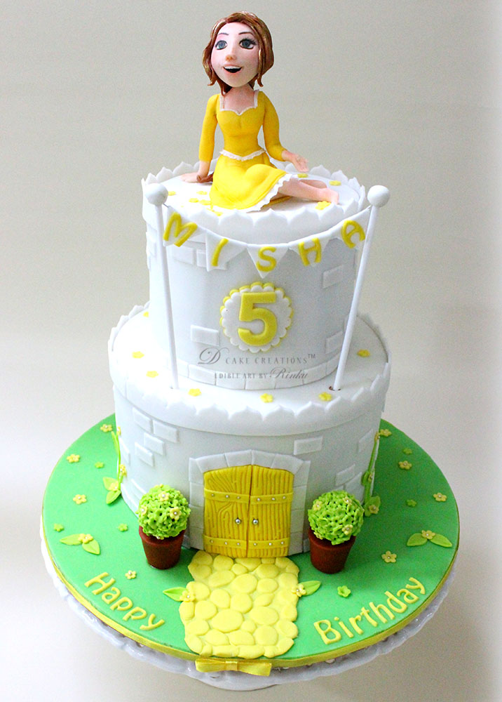 Princess Belle's White Castle Cake