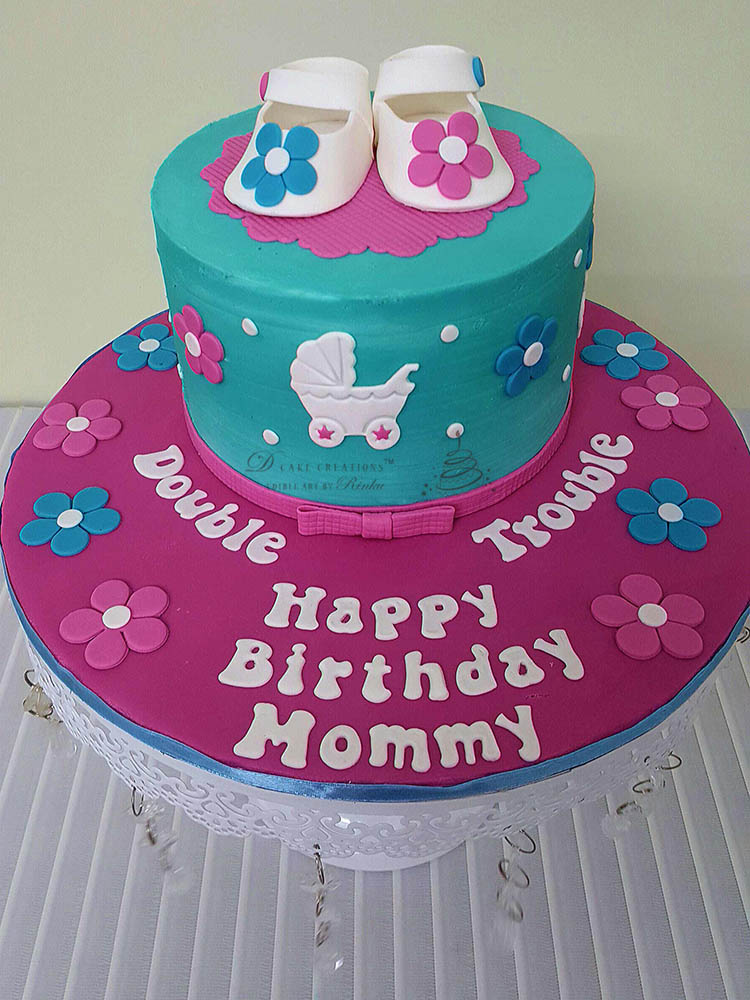 Double Trouble Booties Cake