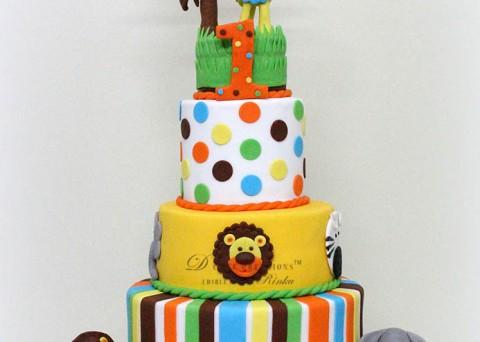 Fun Animal Theme Cake