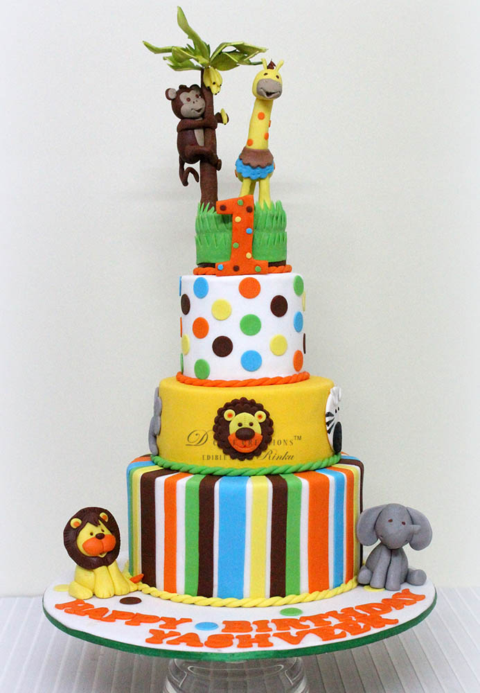 Fun Animal Theme Cake