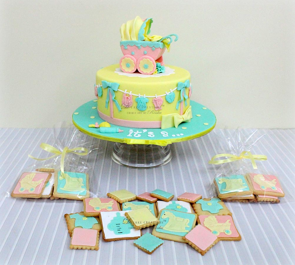 Baby Shower Cake & Cookies