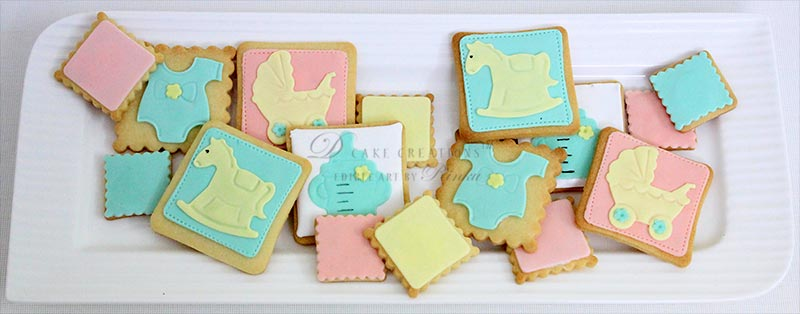 Designer Baby Shower Cookies