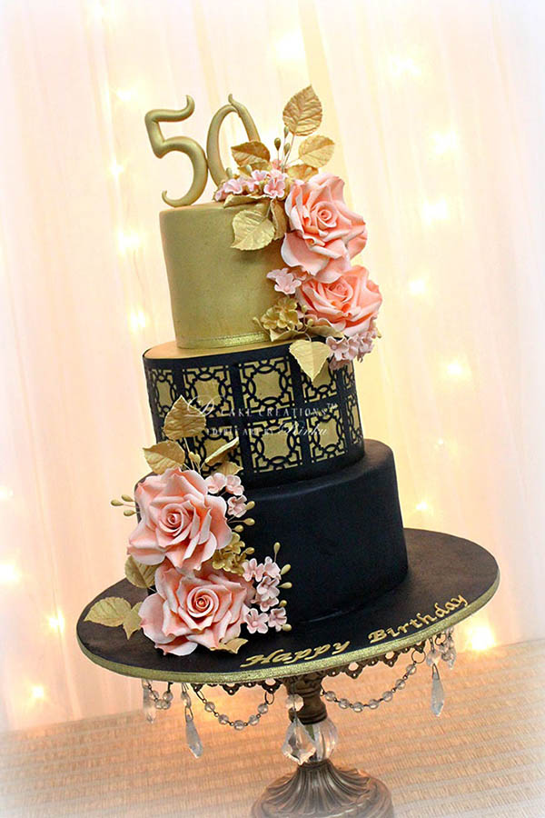Black & Bling Cake