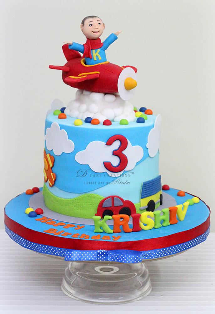Toy Vehicle Cake