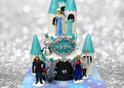 Frozen Theme Castle Cake