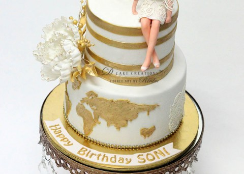 Cake For Ladies White Gold Around The World