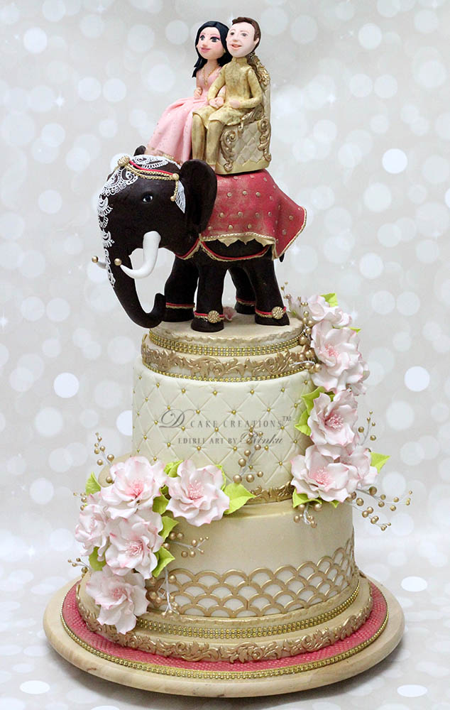 Indian Elephant Wedding Cake