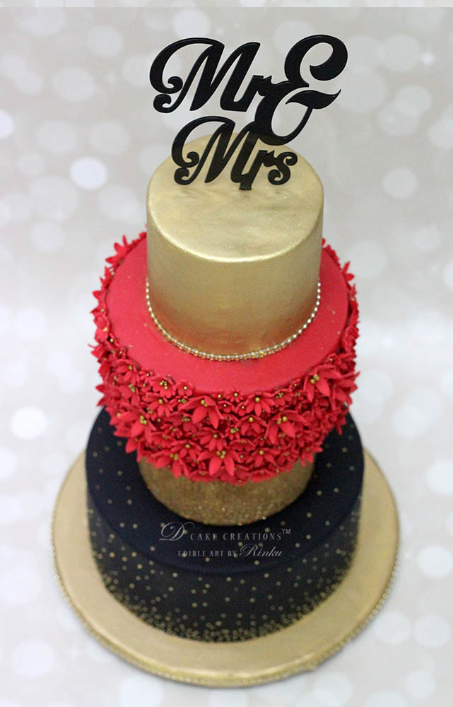 Mr. & Mrs. Topper Wedding Cake