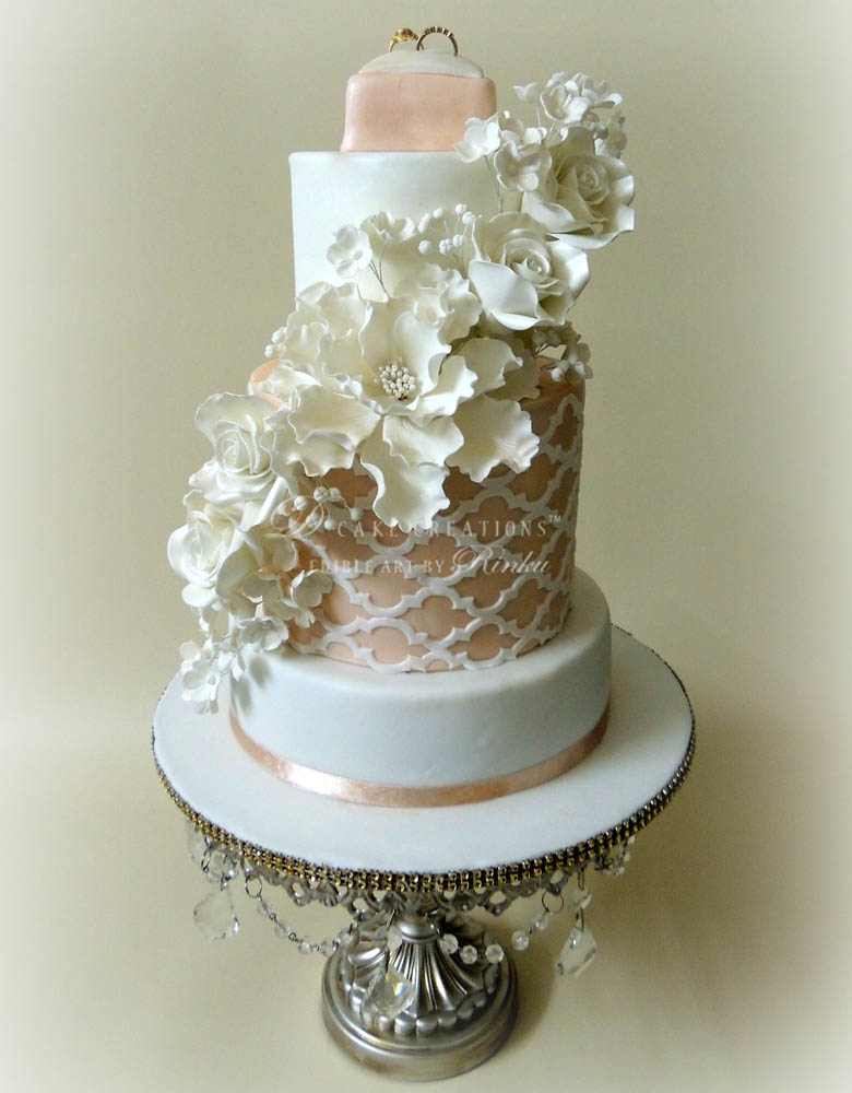 Floral Engagement Cake