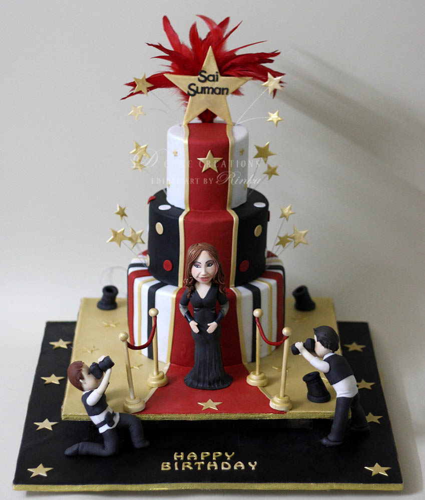 Red Carpet Theme Cake