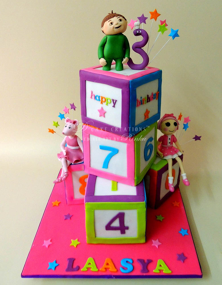 Number Blocks Theme Cake