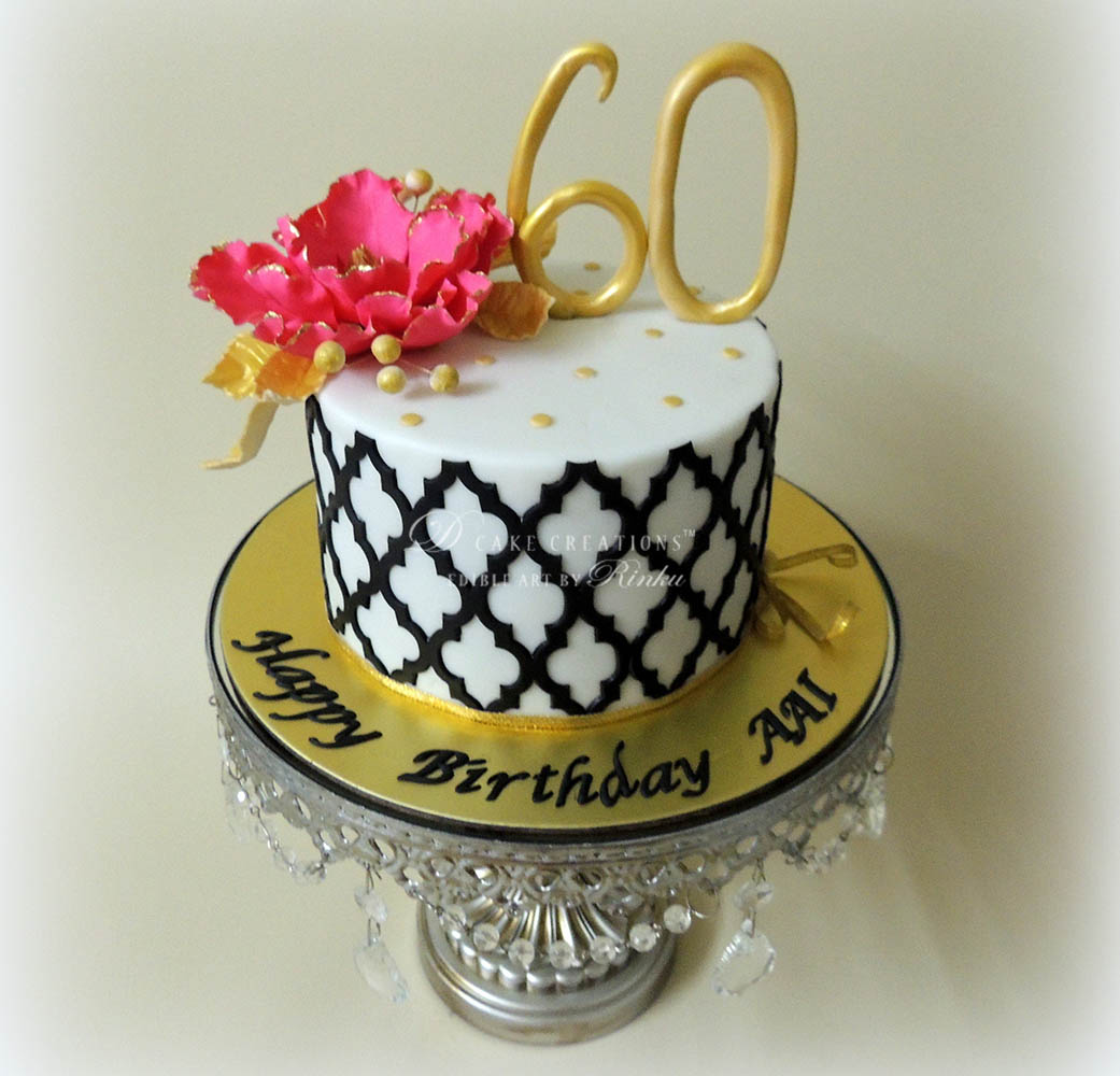 Terrific 60Th Birthday Cake D Cake Creations Personalised Birthday Cards Paralily Jamesorg