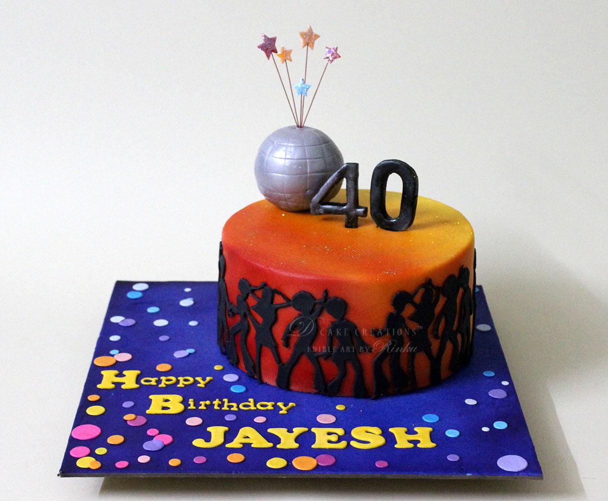 Disco Theme Cake