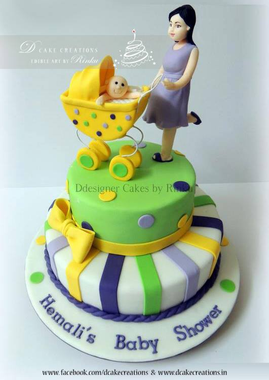 Mom & Baby Carriage Cake