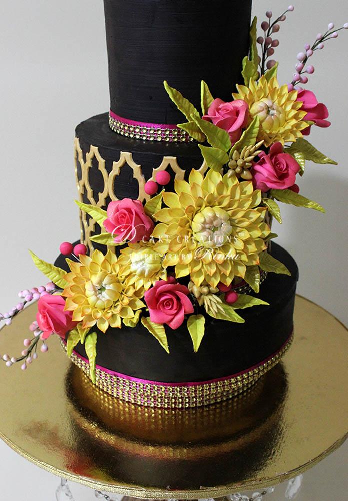 Dahilia and Roses Choco Cake