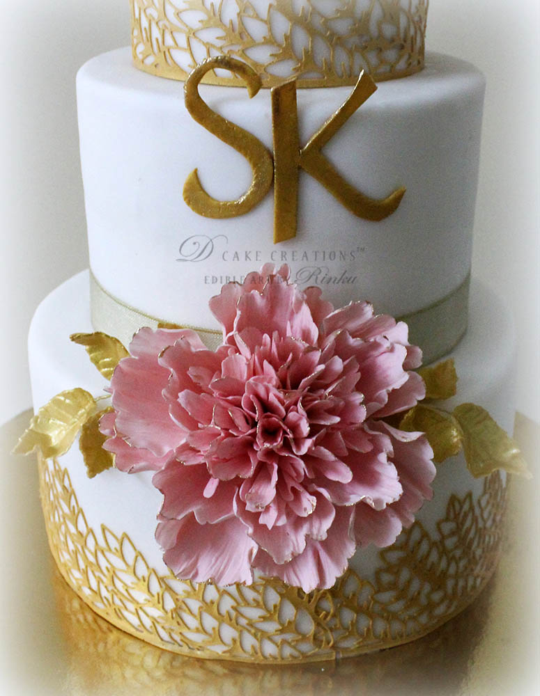 Frill Peony Wedding Cake