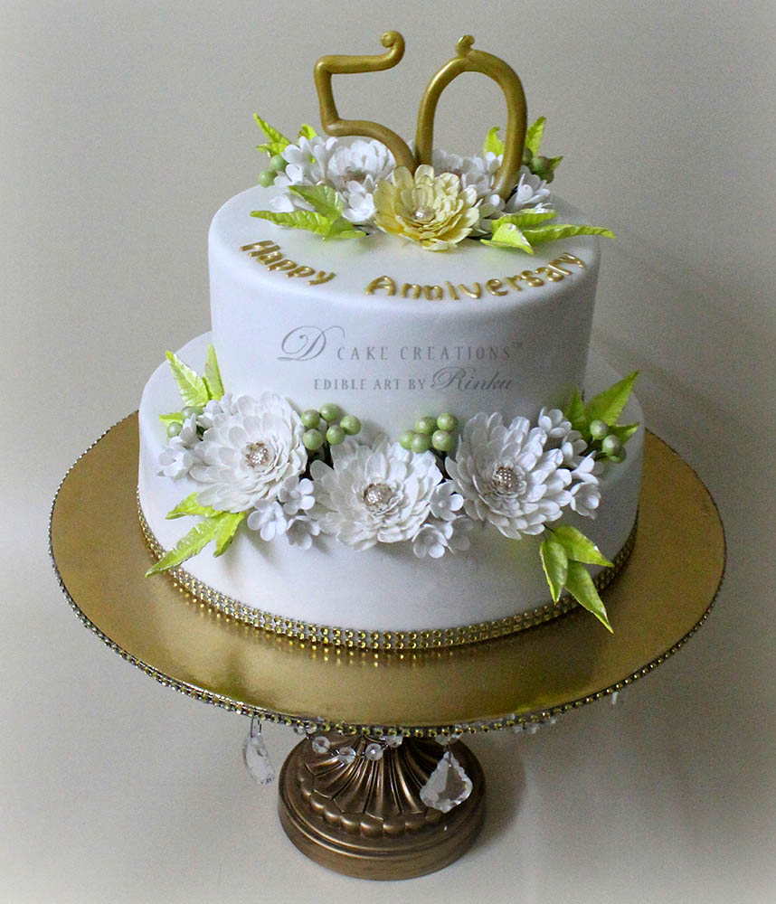 Gerbera Anniversary Cake