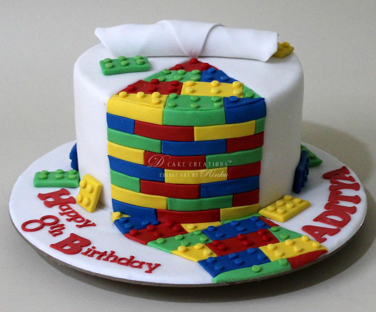 White Lego Cake