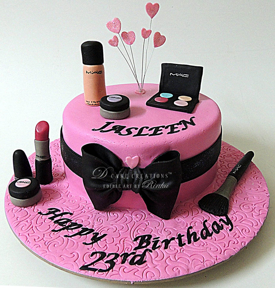 Makeup Birthday Cakes With Name