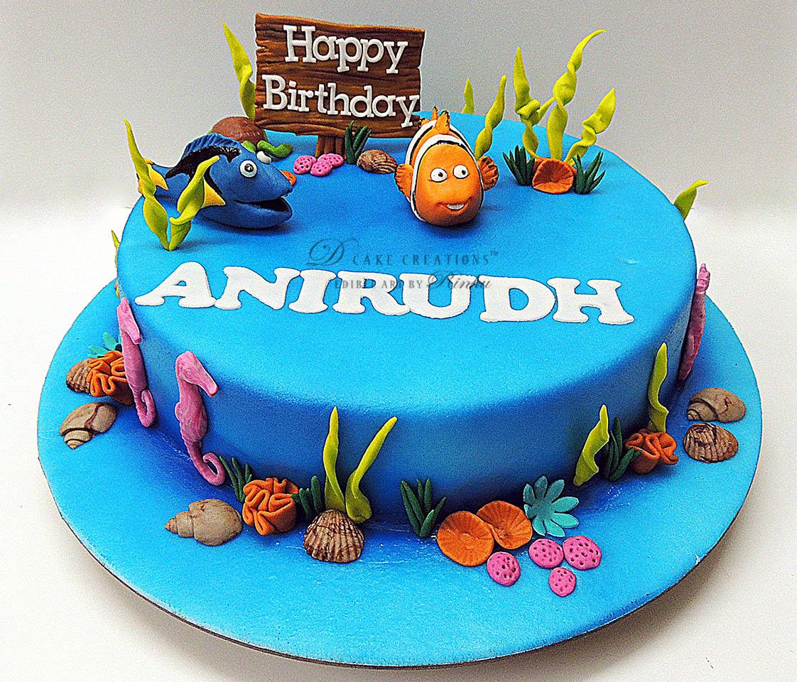 Swell Nemo Dory Cake D Cake Creations Funny Birthday Cards Online Alyptdamsfinfo