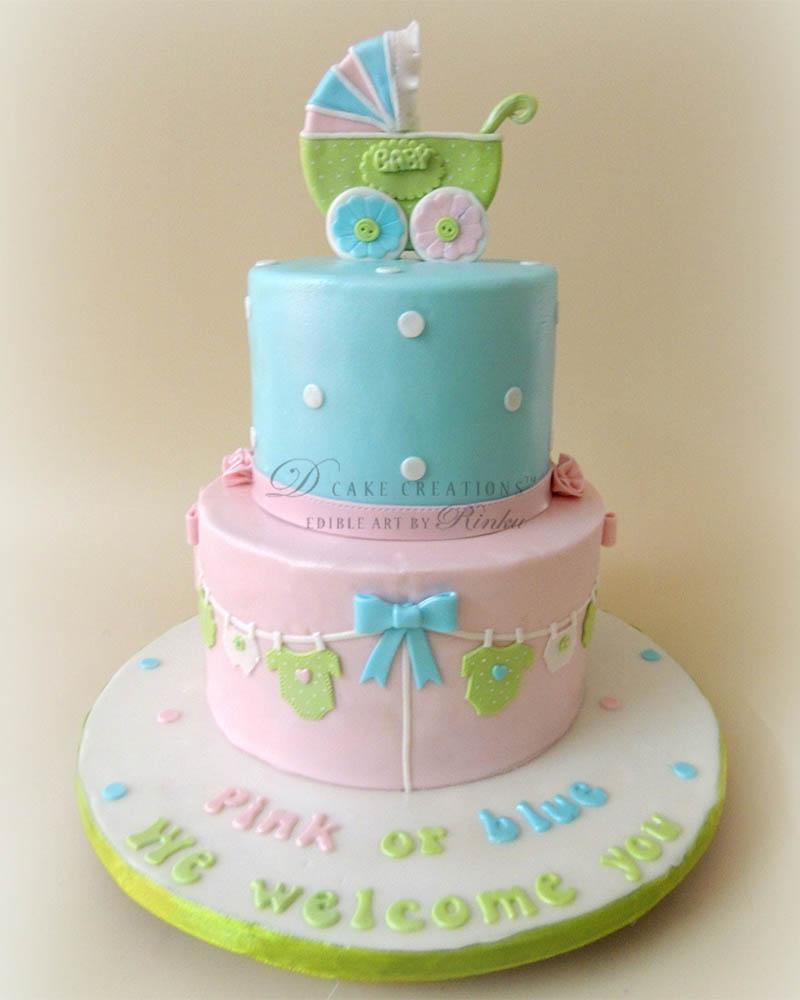 Pink & Blue Cake