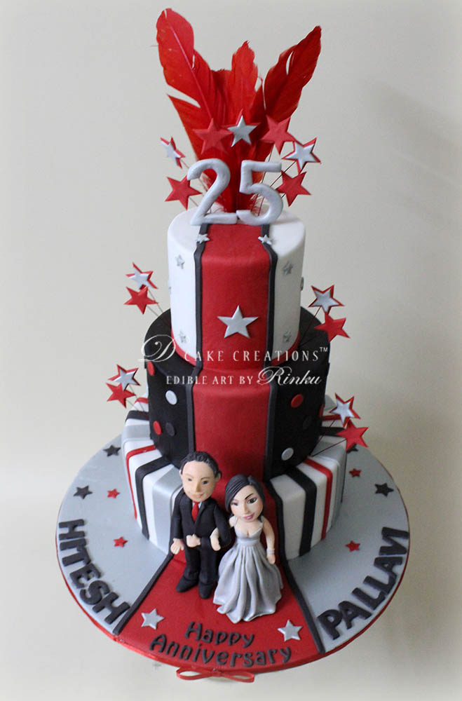 Red Carpet Anniversary Cake